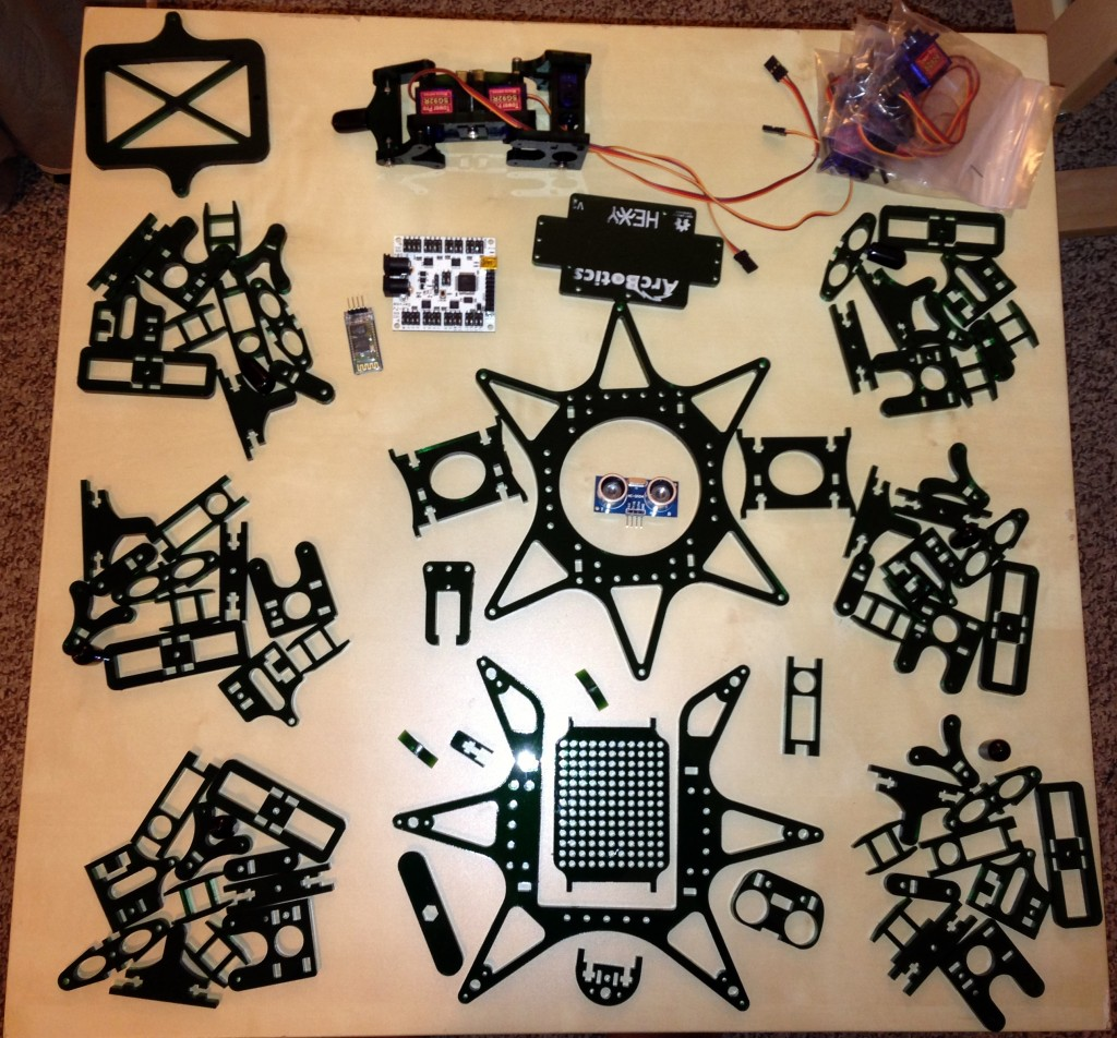 Hexapod - Before Assembly
